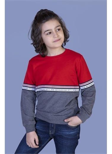 Toontoy Kids Toontoy Erkek Çocuk Garnili Şerit Detaylı Sweatshirt Renkli